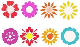 Groep kleurrijke bloem voor verfraaid, stickers, etiketten, markeringen, Royalty-vrije Stock Fotografie