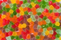 Groep kleurrijke gumdrops voor behang, achtergrond of achtergrond stock foto