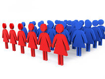 Groep leiders van vrouwen Stock Foto