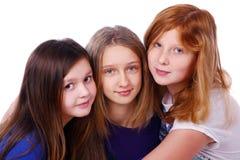 Groep leuke en gelukkige meisjes Stock Fotografie
