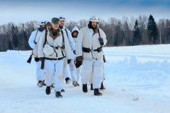 Groep licht -licht-infantrymans van bergtroepen Gebirgsjäger Stock Foto