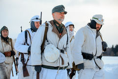Groep licht -licht-infantrymans van bergtroepen Gebirgsjäger Royalty-vrije Stock Fotografie