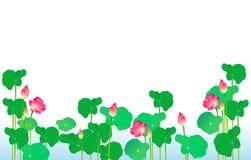 Groep Lotus stock afbeeldingen