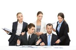Groep managers het werken Royalty-vrije Stock Foto