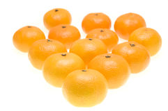 Groep mandarijnen Royalty-vrije Stock Foto