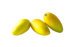 Groep mango op witte achtergrond Stock Foto