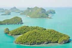 Groep Marien Nationaal Park de Eilanden Angthong Royalty-vrije Stock Foto's