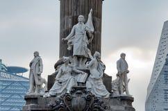 Groep marmeren standbeelden van enkele helden van de Oorlog van Onafhankelijkheid royalty-vrije stock foto