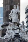 Groep marmeren standbeelden van enkele helden van de Oorlog van Onafhankelijkheid royalty-vrije stock fotografie