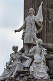 Groep marmeren standbeelden van enkele helden van de Oorlog van Onafhankelijkheid royalty-vrije stock afbeelding