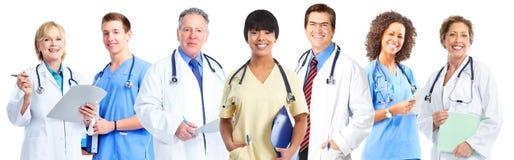 Groep medische artsen en verpleegsters stock foto