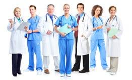 Groep medische artsen en verpleegsters royalty-vrije stock afbeeldingen