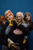 Groep meisjes en een jongen Stock Foto