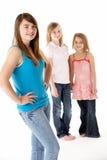 Groep Meisjes samen in Studio Royalty-vrije Stock Foto's
