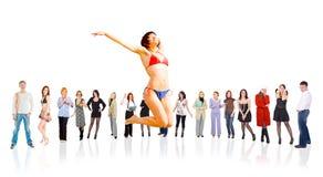 Groep mensen Stock Afbeelding