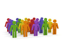 Groep mensen. Stock Foto's