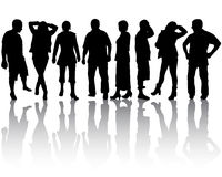 Groep mensen Stock Foto's