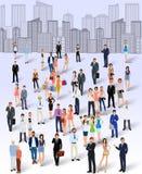 Groep mensen in de stad Stock Afbeeldingen