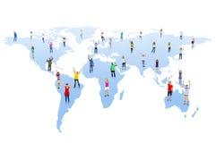 Groep Mensen en Globale Mededelingen Royalty-vrije Stock Foto