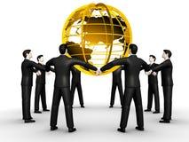 Groep mensen en wereld royalty-vrije illustratie