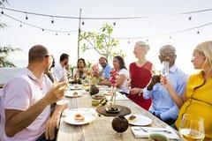 Groep Mensen het Dineren Concept stock fotografie