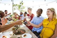 Groep Mensen het Dineren Concept stock afbeelding