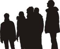 Groep mensen, het letten op stock illustratie
