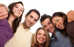 Groep mensen - lage mening Stock Foto