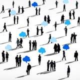 Groep Mensen met Communicatie Concepten royalty-vrije illustratie