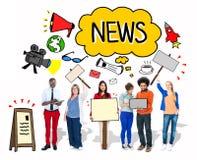 Groep Mensen met Digitale Media Concepten stock illustratie