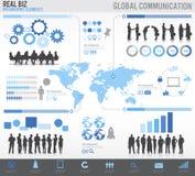 Groep Mensen met Globale Communicatie Concepten stock illustratie