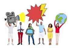 Groep Mensen met Media Concept Royalty-vrije Stock Foto's