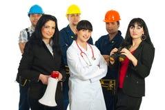 Groep mensen met verschillende banen royalty-vrije stock foto