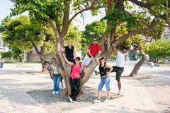 Groep mensen op vakantie in Griekenland Royalty-vrije Stock Afbeelding