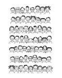 Groep mensen, schets voor uw ontwerp Royalty-vrije Stock Fotografie