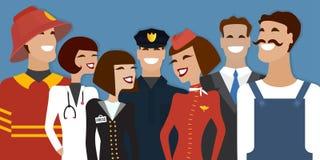 Groep mensen van verschillend beroep, Stock Afbeeldingen