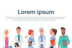 Groep Middelartsen Team Clinics Hospital vector illustratie