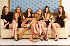 Groep modellen Stock Foto's