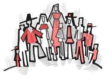 Groep modieuze mensen Stock Foto