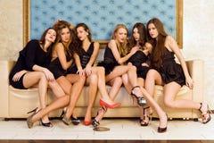 Groep mooie modellen stock fotografie