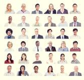 Groep Multi-etnisch Divers Bedrijfsmensenconcept Royalty-vrije Stock Afbeeldingen