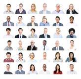 Groep Multi-etnisch Divers Bedrijfsmensenconcept Stock Afbeeldingen