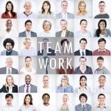 Groep Multi-etnische Diverse Bedrijfsmensen Stock Afbeeldingen