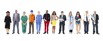 Groep Multi-etnische Diverse Gemengde Beroepsmensen Stock Foto's