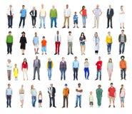 Groep Multi-etnische Diverse Gemengde Beroepsmensen Royalty-vrije Stock Foto's