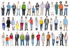 Groep Multi-etnische Diverse Gemengde Beroepsmensen Royalty-vrije Stock Afbeelding
