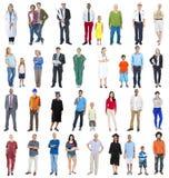 Groep Multi-etnische Diverse Gemengde Beroepsmensen Stock Afbeelding