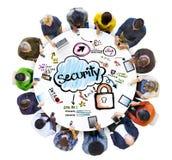 Groep Multi-etnische Mensen met Veiligheidsconcept stock illustratie
