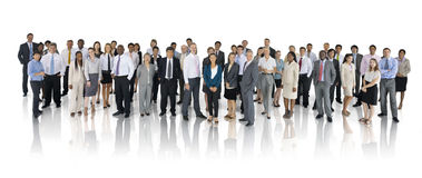 Groep Multi-etnische Wereld Bedrijfsmensen Royalty-vrije Stock Afbeelding