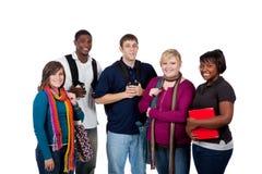 Groep multi-racial studenten Stock Foto